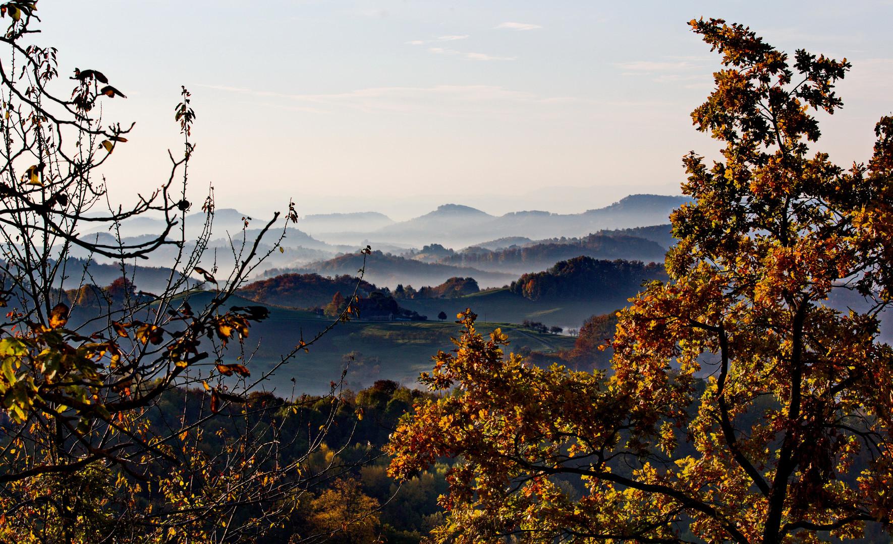 Berghausen Umgebung Herbst in der Südsteiermark