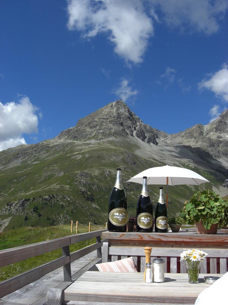 Berghütte bei St Moritz