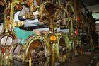 Bergisch Gladbach -alte riesige Papiermaschine-