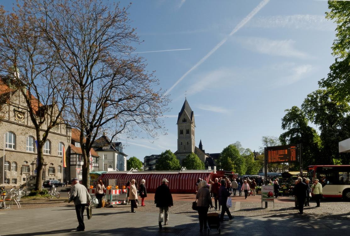 Bergisch Gladbach mit Blick auf den Markt und St. Laurentius