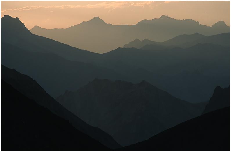 Bergketten Ladakhs