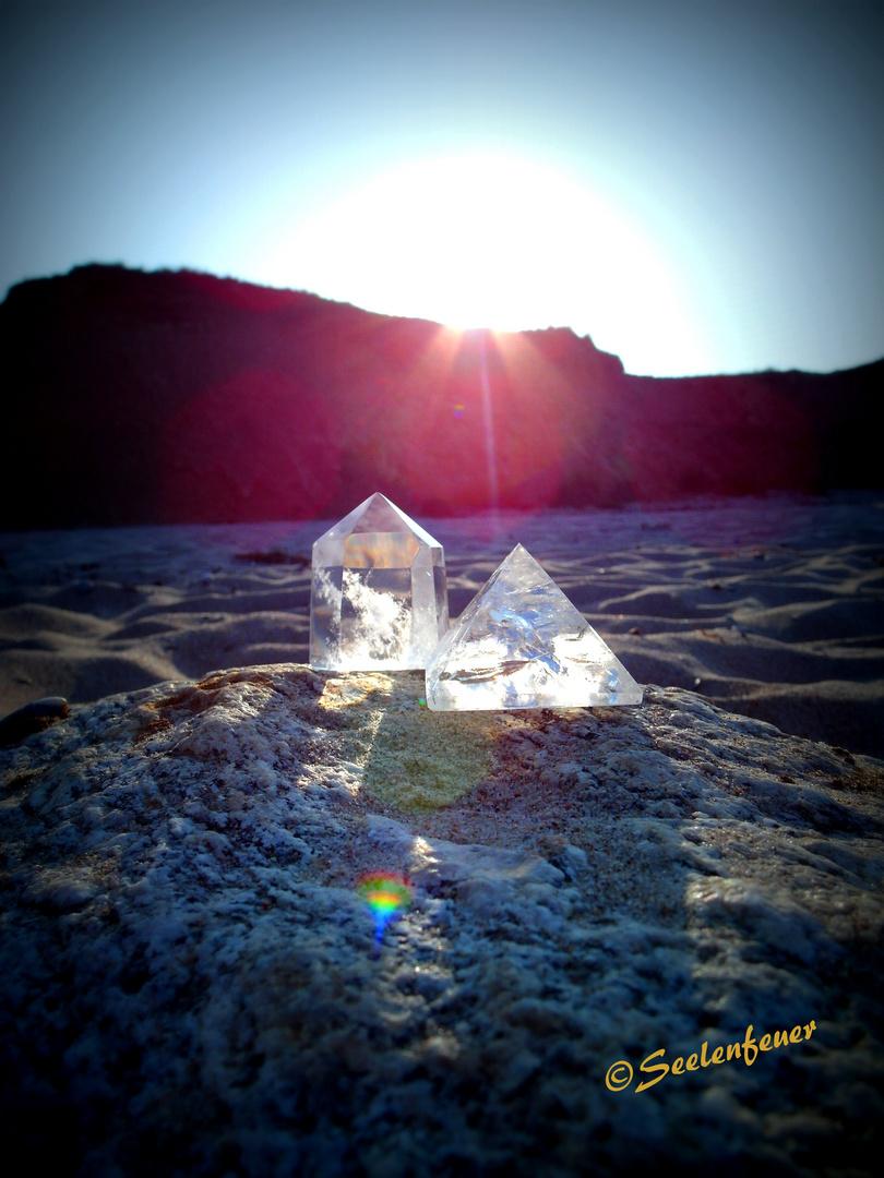 Bergkristall in Position gerückt