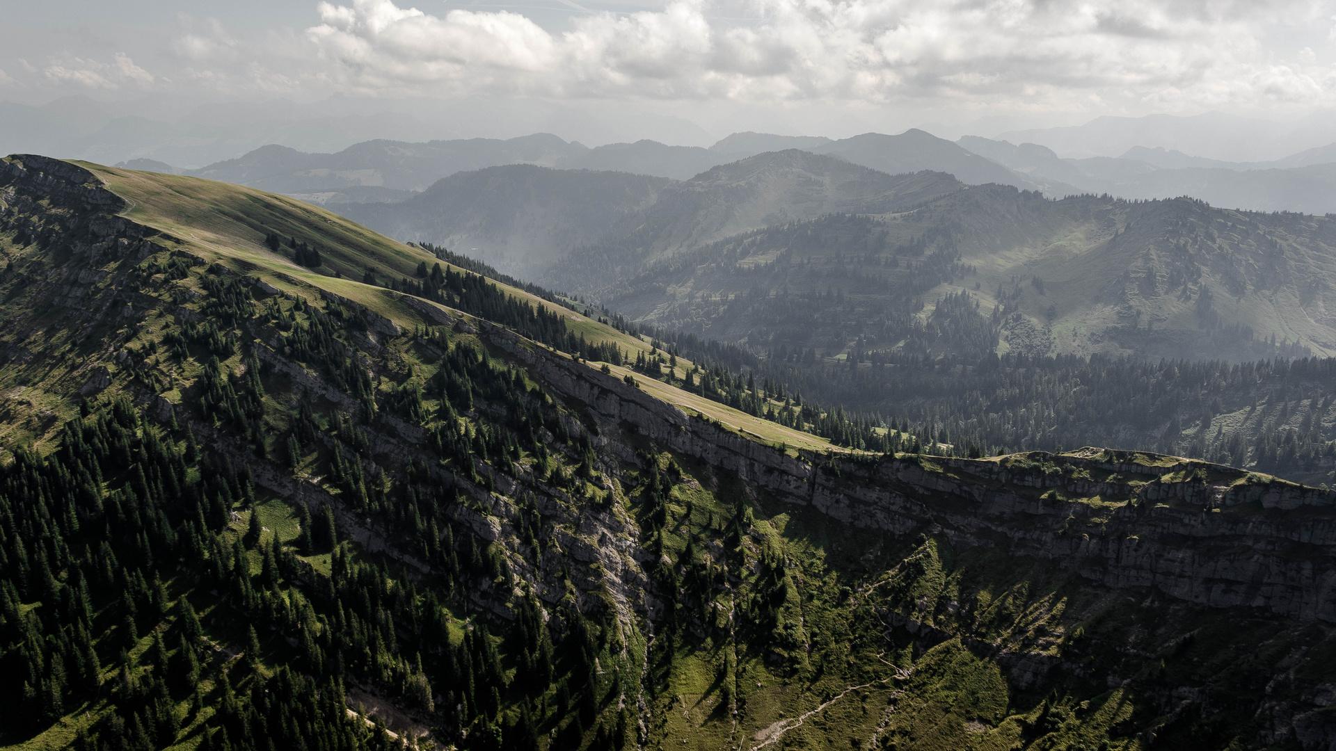 Bergpanorama, die Dritte