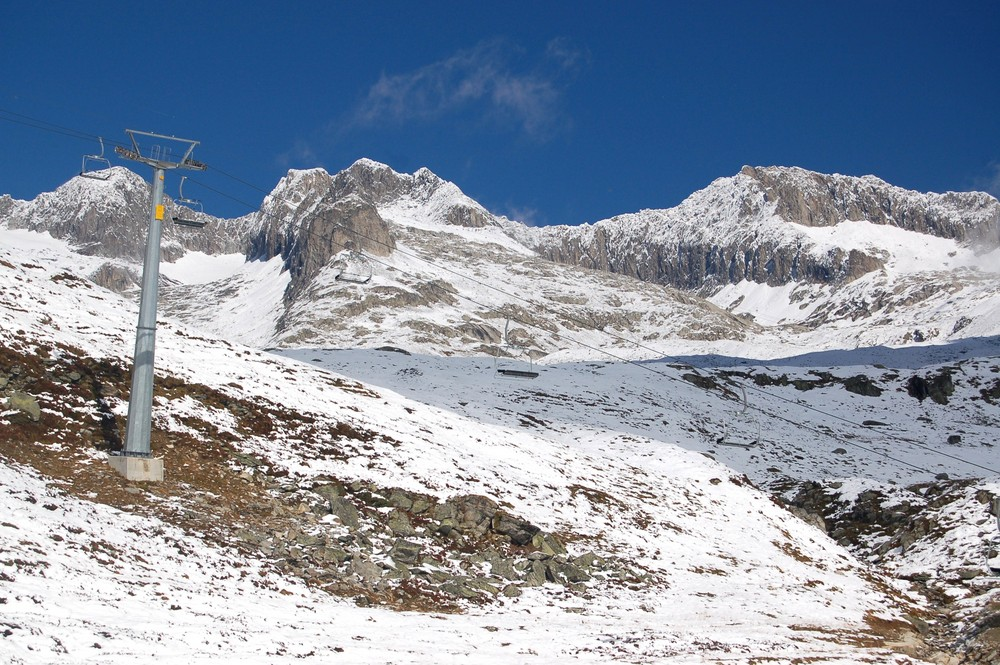 Bergpanorama in Weiß
