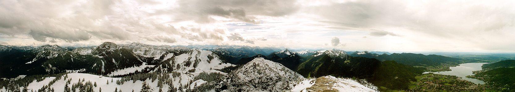 Bergpanorama vom Wallberg/Tegernsee