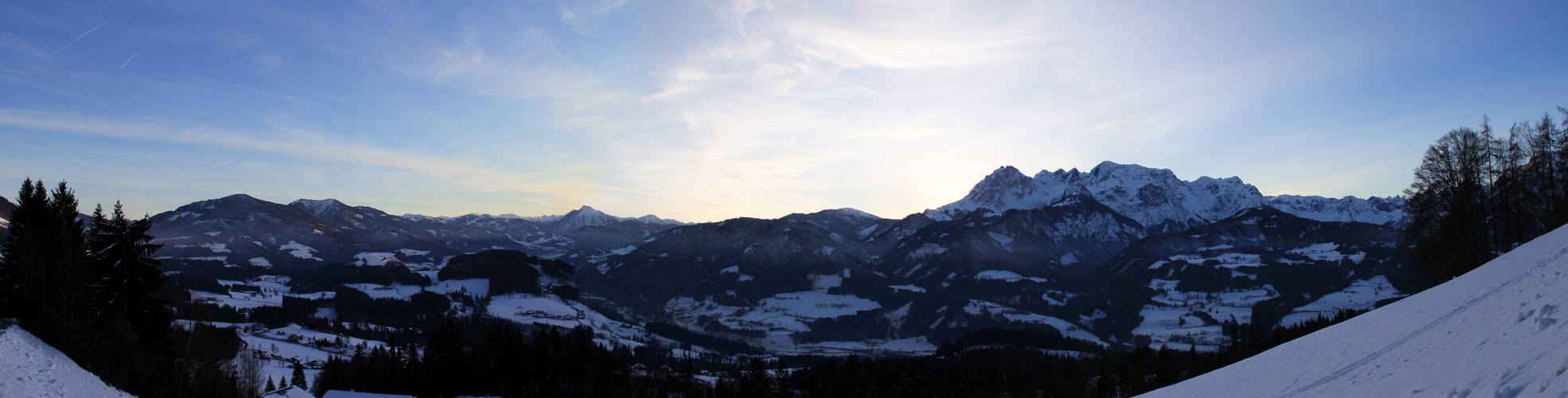Bergpanorama Winter