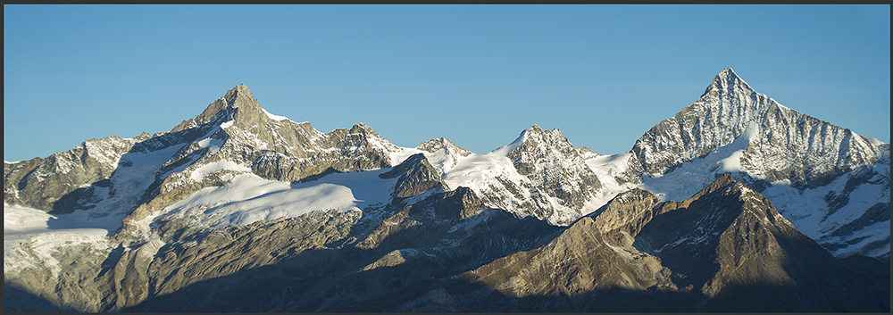 Bergpanorama: Zinalrothorn bis Weisshorn, Version II
