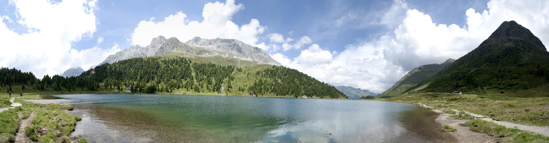 Bergsee auf dem Staller Sattel