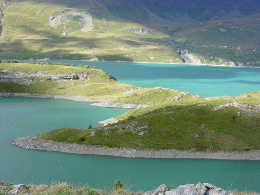Bergsee in Mt. Cenis auf einer Motorradtour