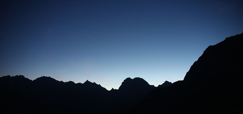 Bergsilhouette
