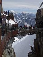 Bergsteiger am Aiguille Du Midi Chamonix