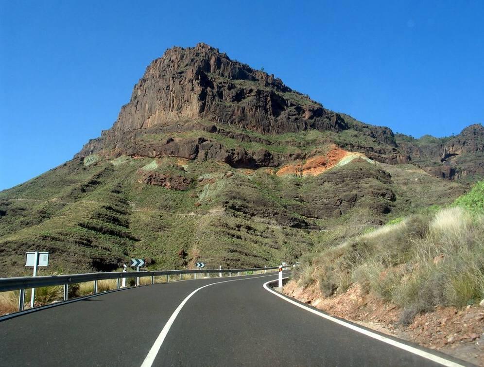 Bergstraße auf Gran Canaria