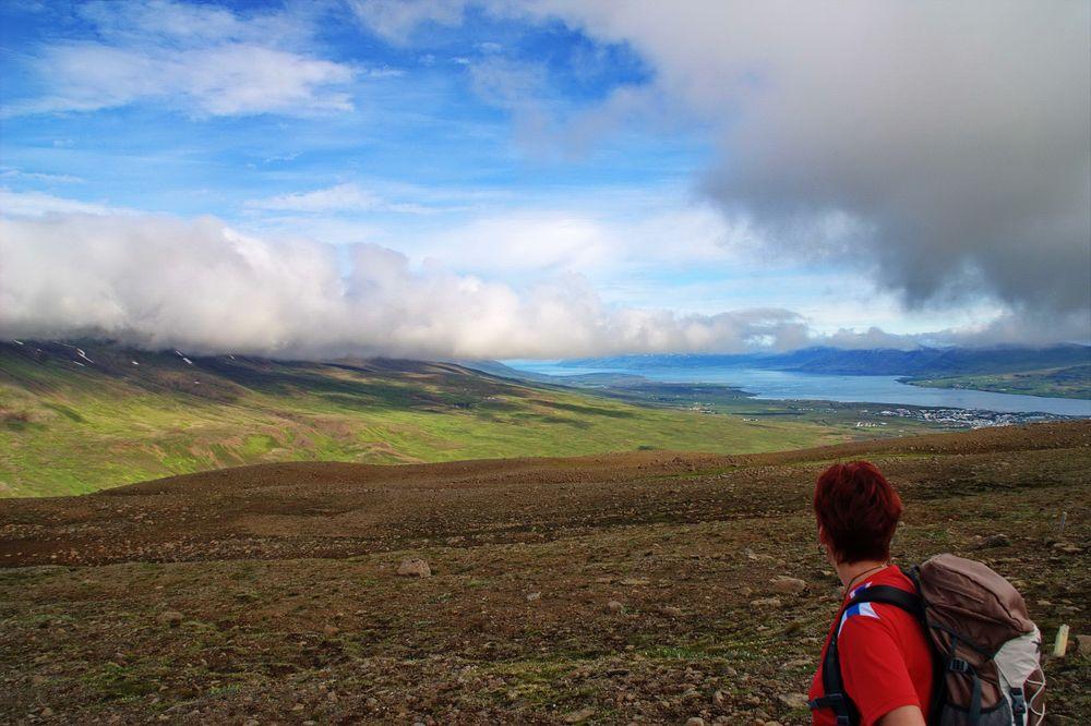 Bergtour im Norden Islands