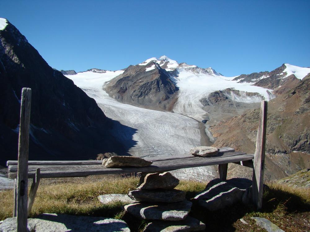 Bergwanderung 2007 - Blick auf die Wildspitze