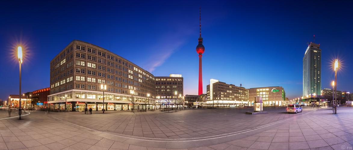Berlin Alexanderplatz - Panorama Skyline