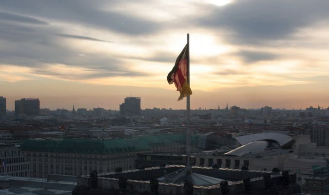 Berlin an einen Wintermorgen