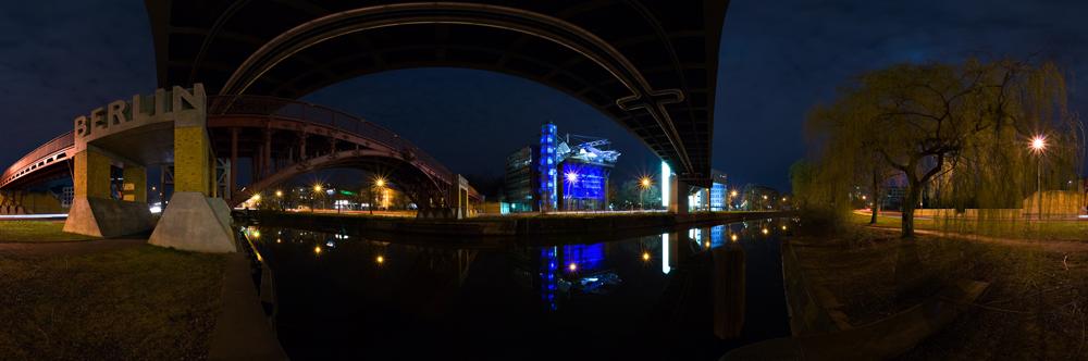 Berlin Anhalter Brücke 360° at night