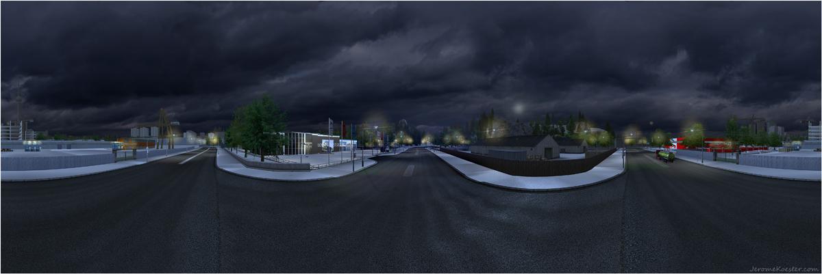 Berlin bei Dunkelheit