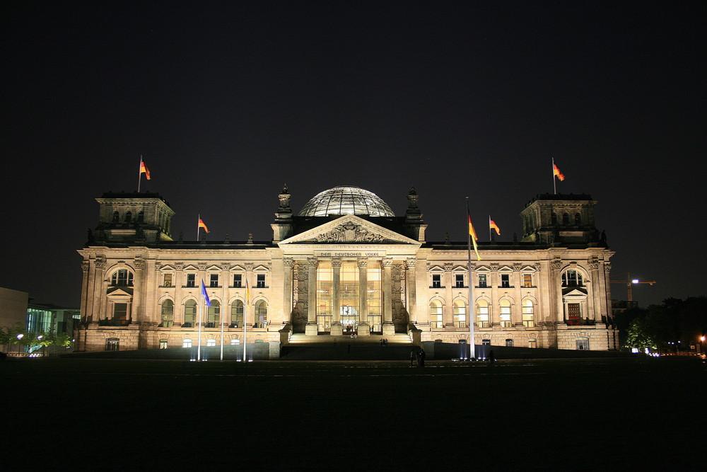 Berlin bei Nacht - Bundestag
