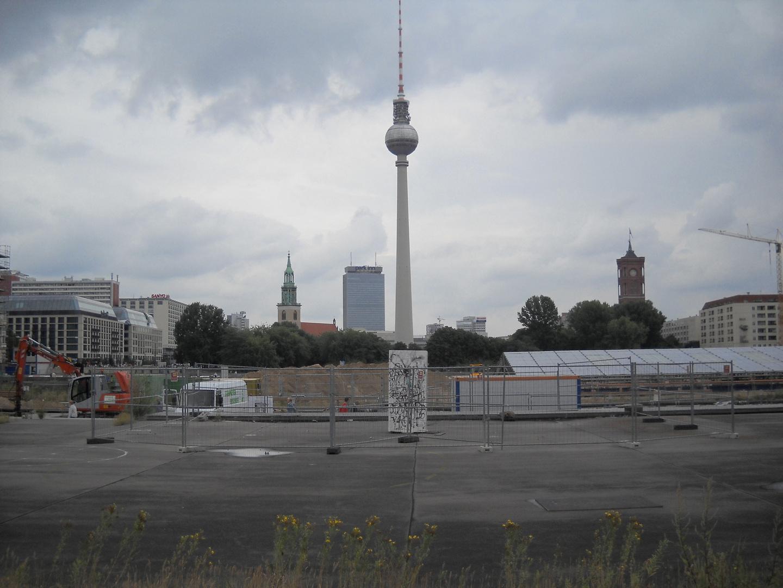 Berlin - Blick auf die Schlossbaustelle 2010