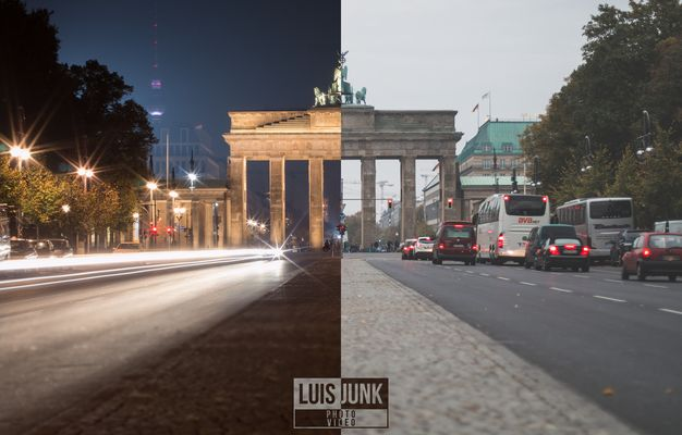 Berlin Brandenburgertor - Night // Day