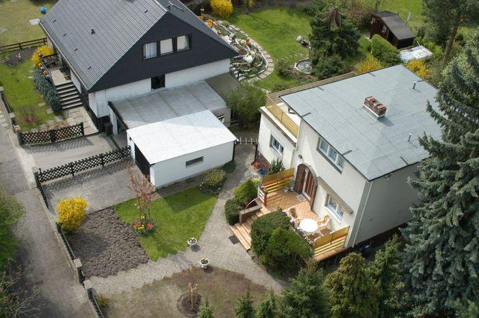 Berlin Dach Detailansicht Einfamilienhaus