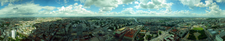 """Berlin in 360° aufgenommen aus dem """"Telespargel"""""""