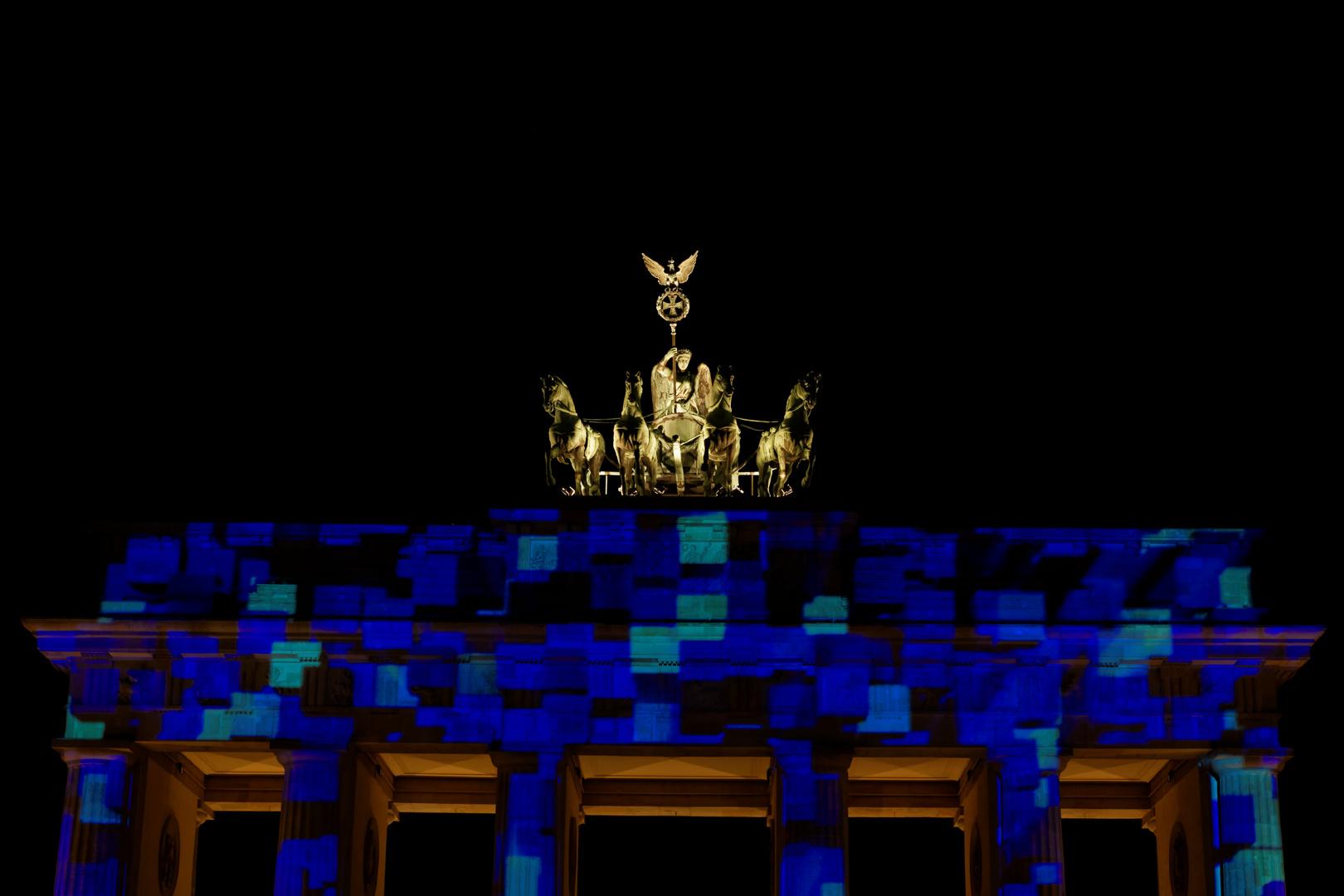 Berlin leuchtet 2014 - Quadriga/Brandenburger Tor