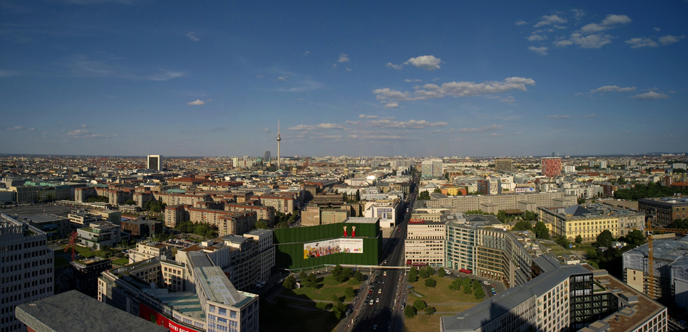 Berlin, Panorama vom Debis-Haus (2)