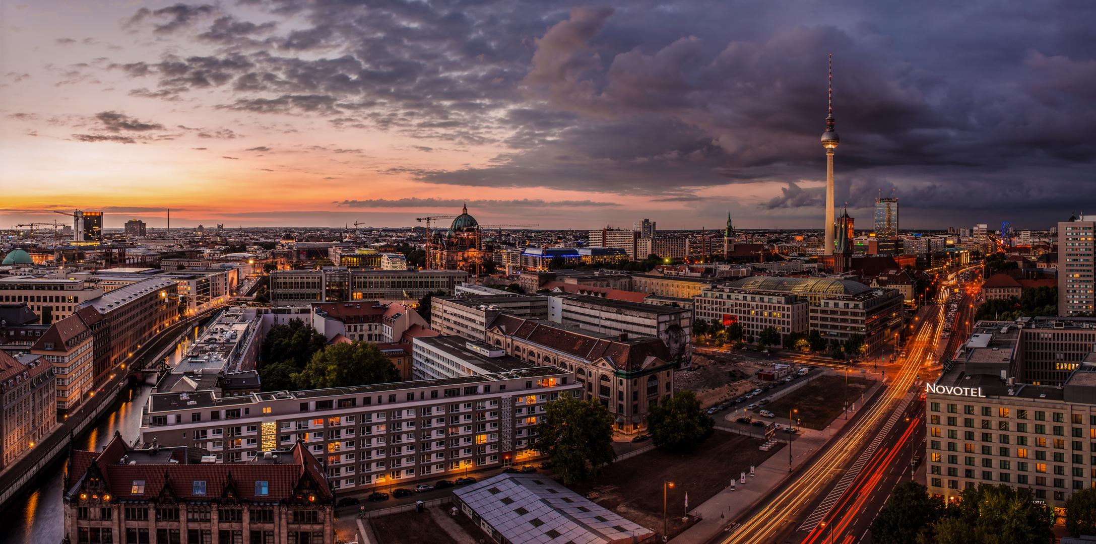 Berlin Skyline Cloudy