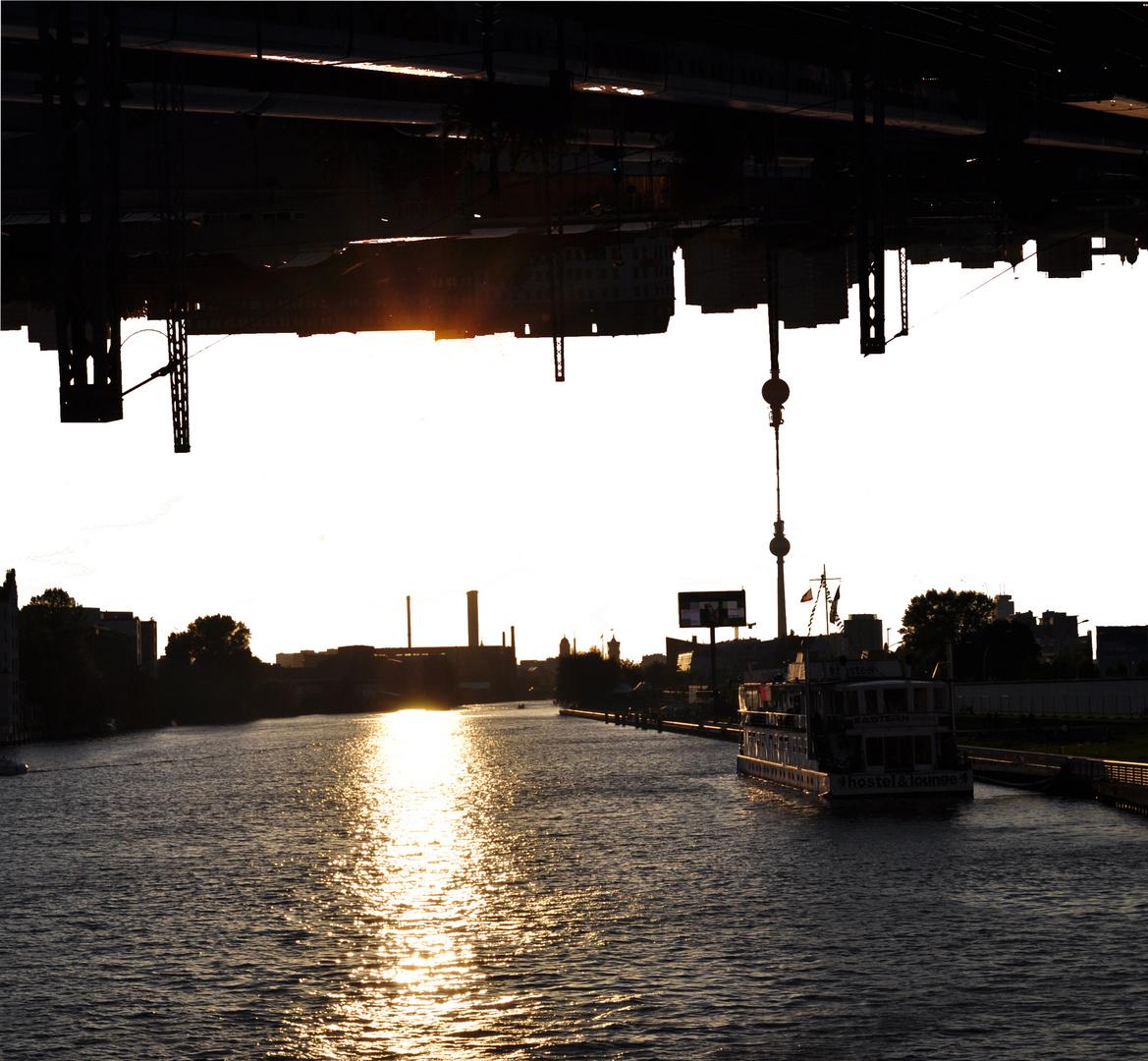 Berlin Sonnenuntegang aus 2 Perpektiven
