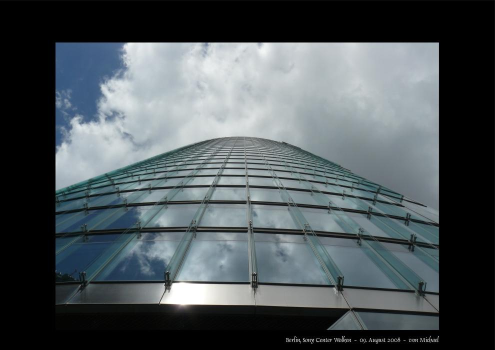 Berlin, Sony Center, leicht bewölkt