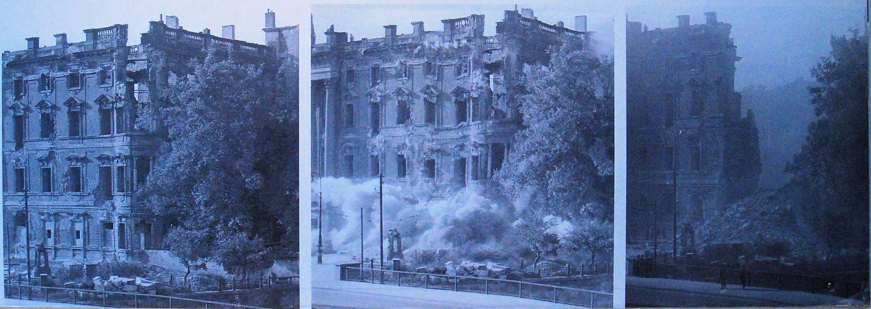 Berlin Stadtschloss, Südostecke; Sprengung 1950