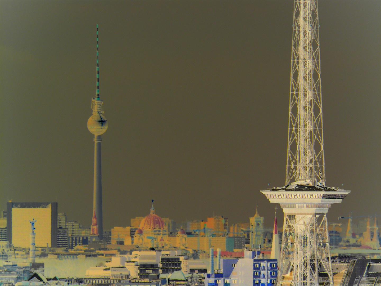 Berlin Überblick, über den Dächern von Berlin in ART
