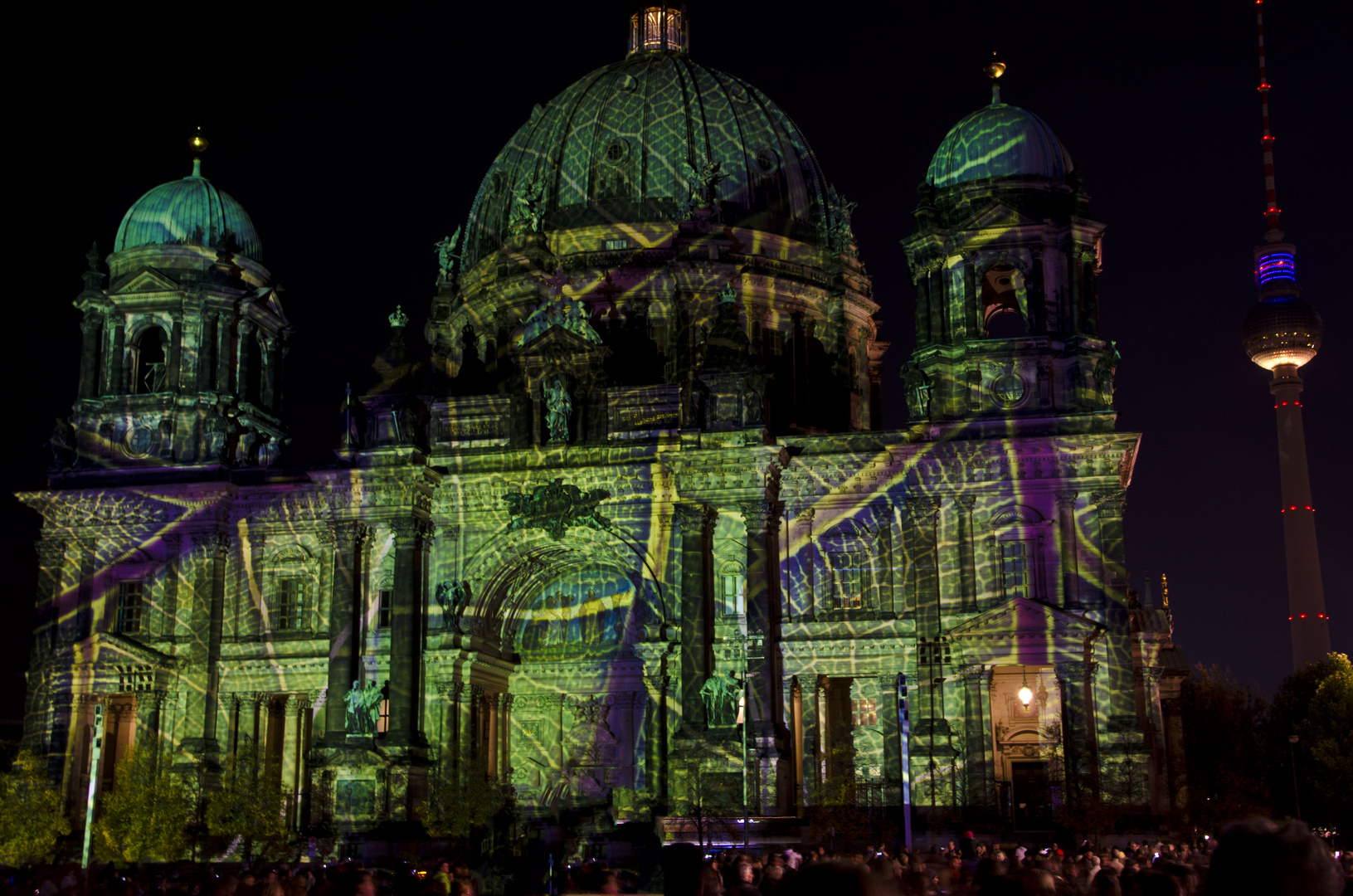 Berliner Dom beim Festival of Light