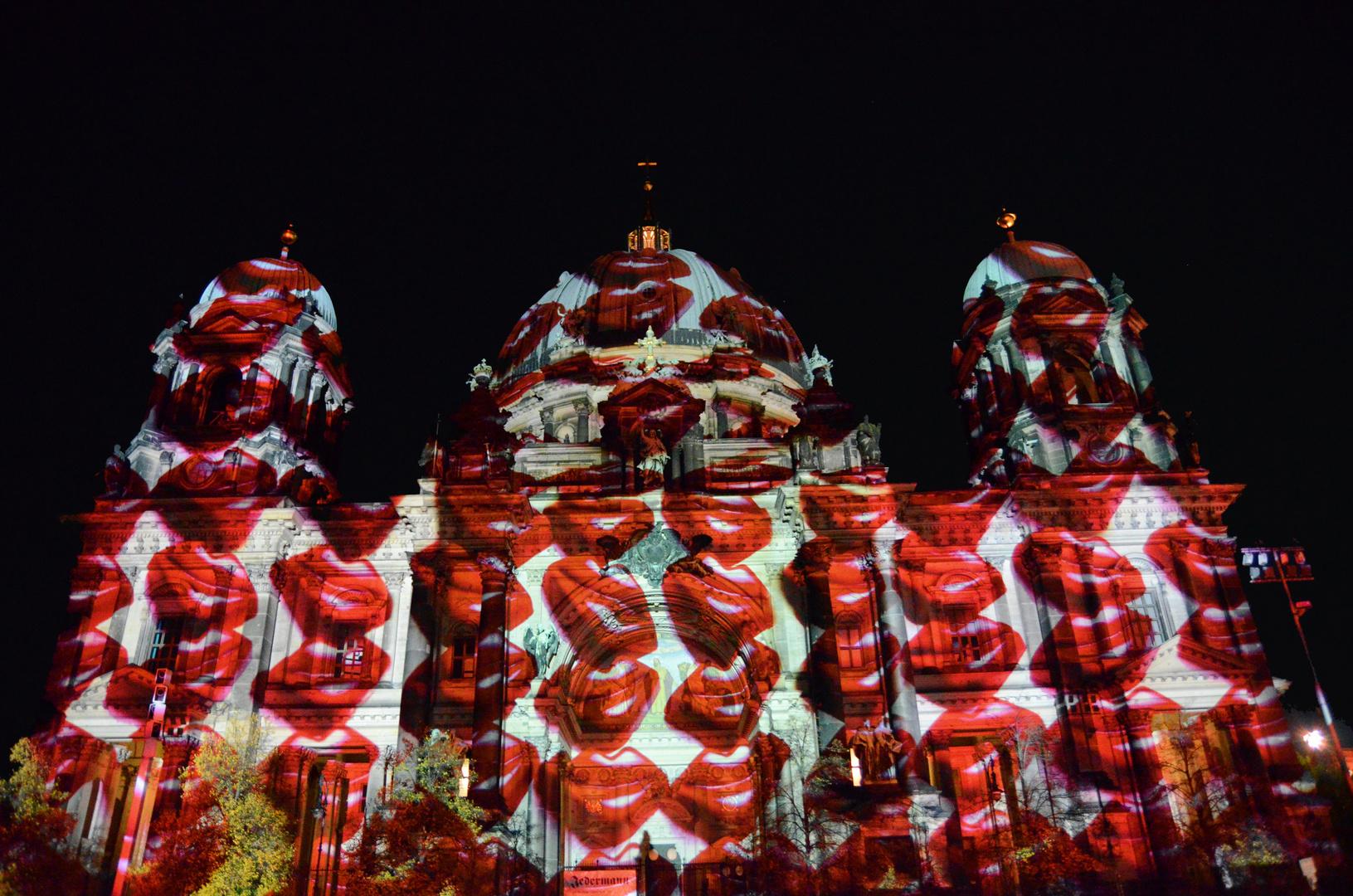 Berliner Dom beim Festival of Lights 2013