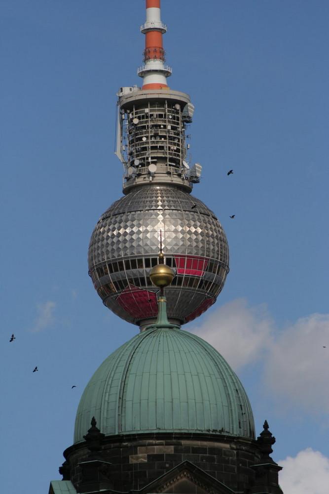 """Berliner Dom mit Fernsehturm """"+"""""""