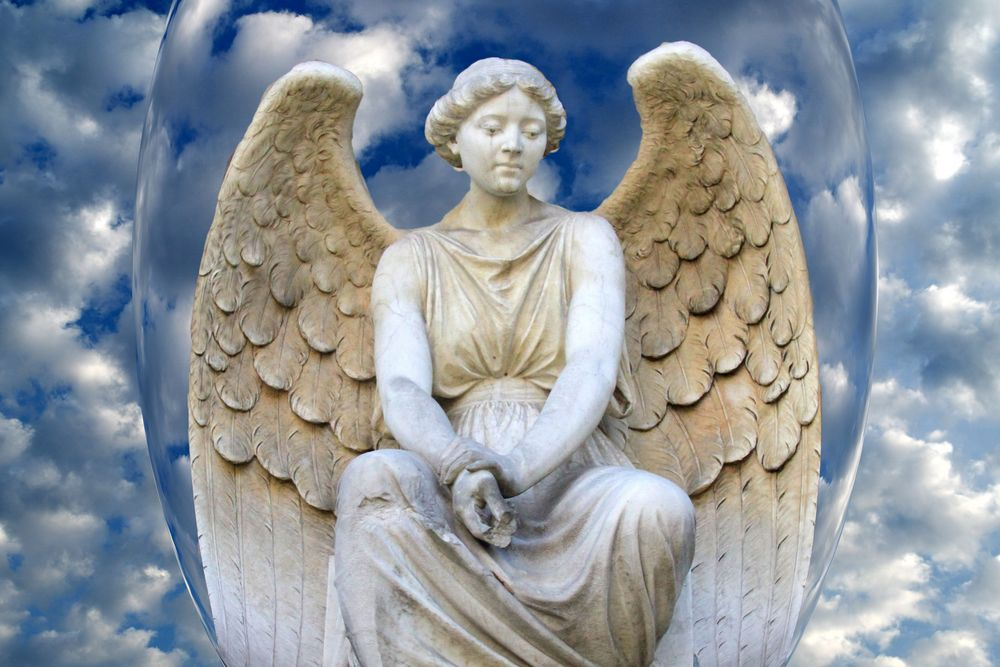 Berliner Engel im Himmel