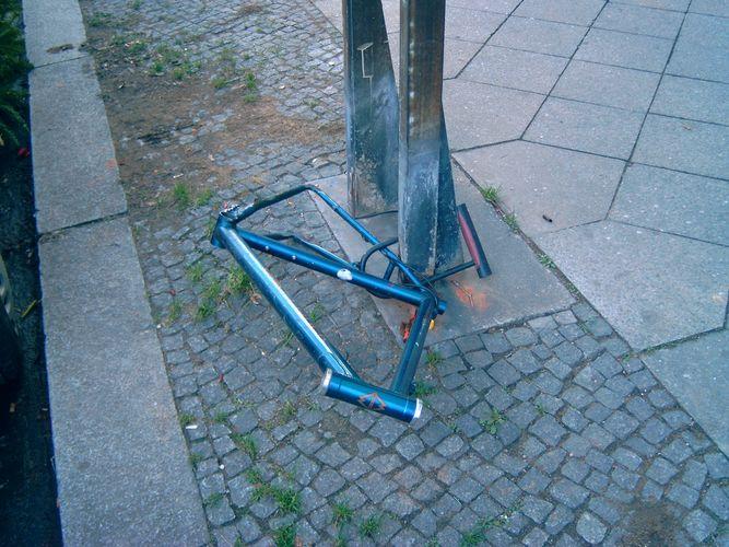 Berliner Fahrräder habens nicht leicht