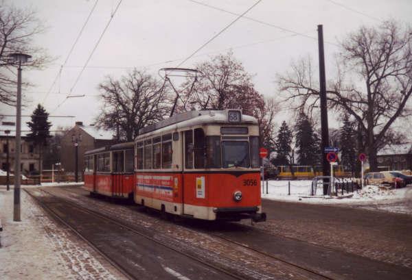 Berliner Reko Zug in Alt Schmöckwitz im Januar 1996