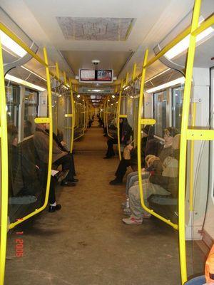 Berliner U-Bahn von Innen