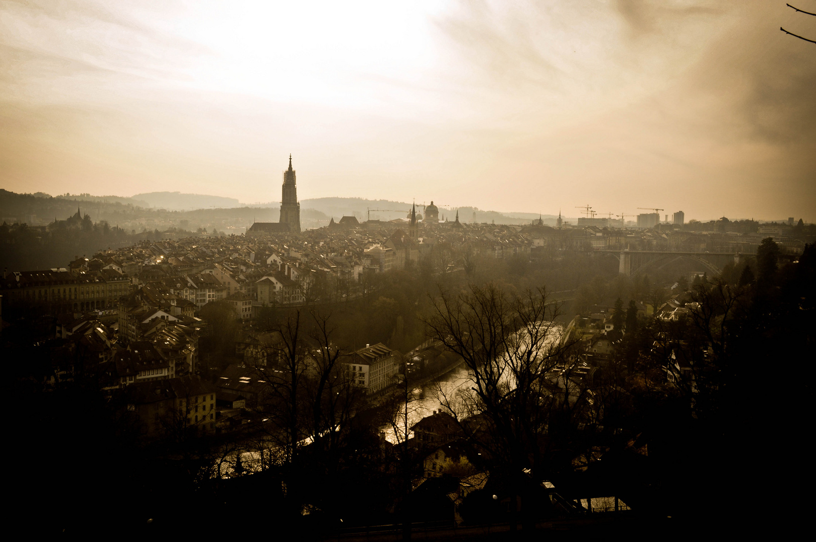 Bern - Sicht aus Rosengarten