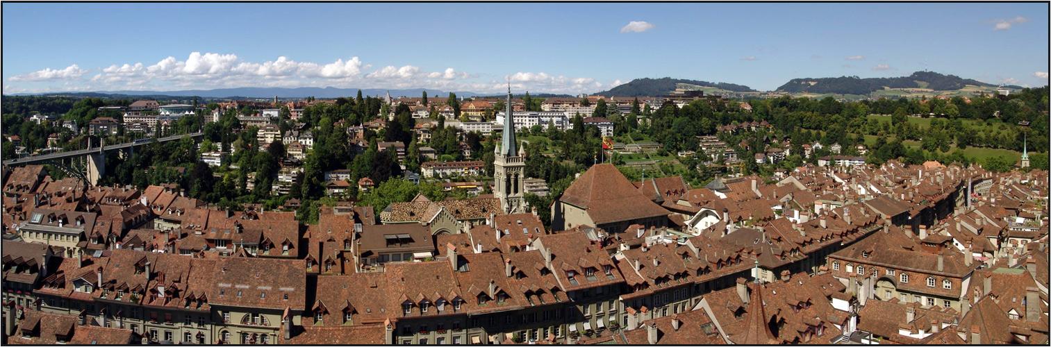 Bern vom Münsterturm Nordpano