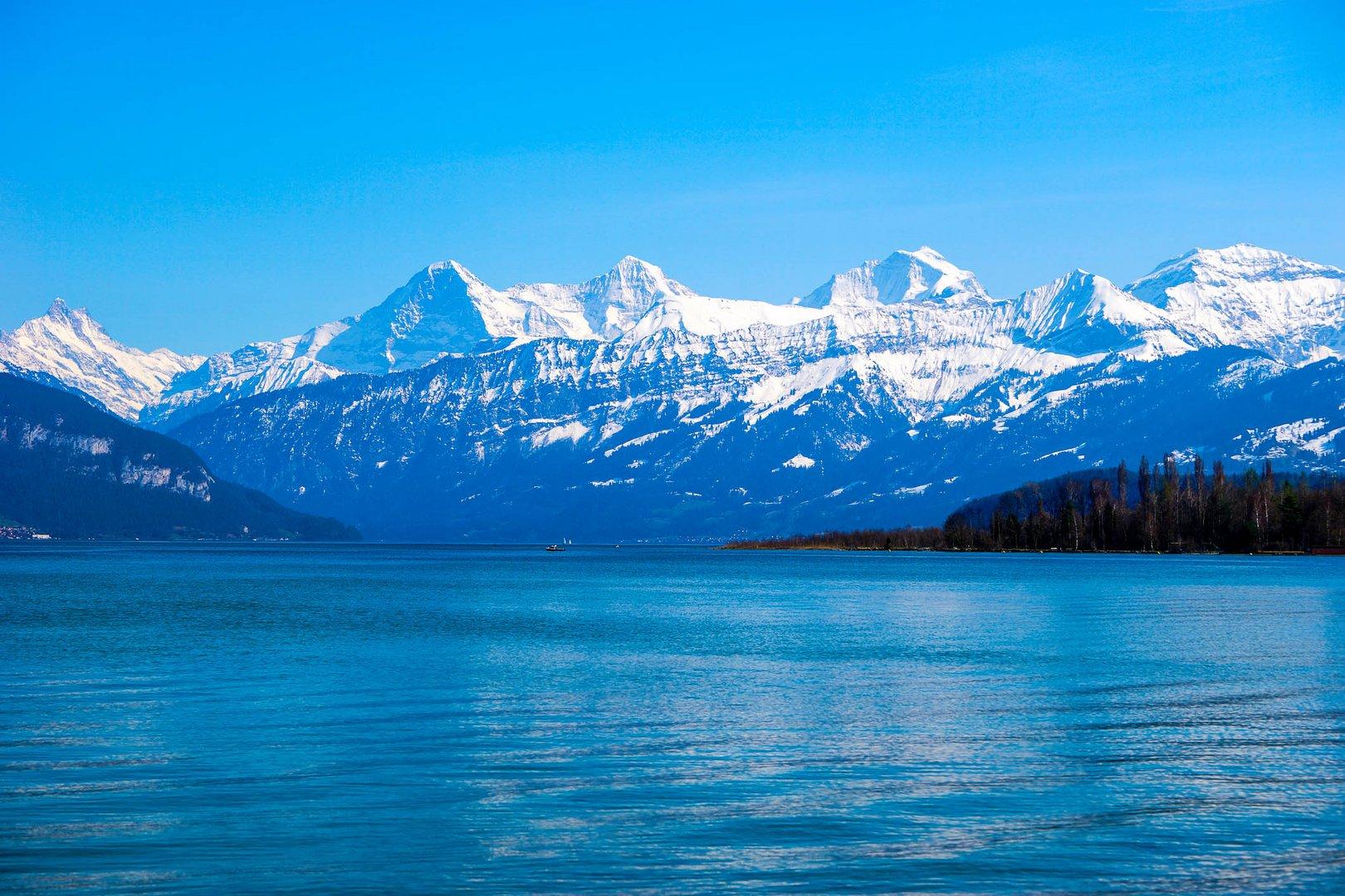 Berner Alpen mit Thunersee