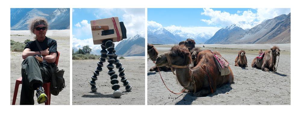 berni und die kamele in ladakh
