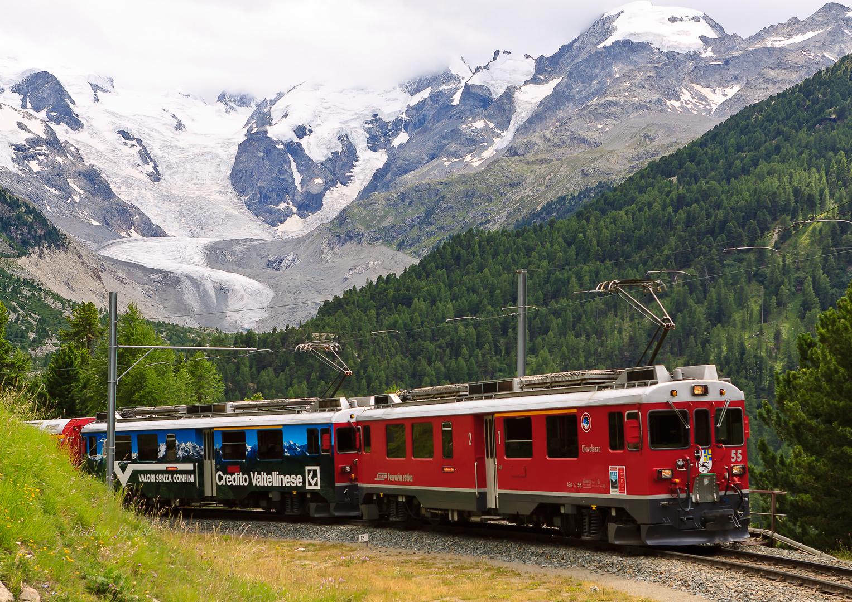 Berninabahn - die Montebellokurve (2) ...