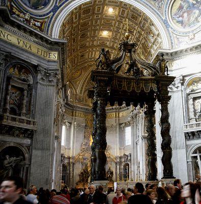 Bernini - ses colonnes... hôtel de Saint-Pierre de Rome