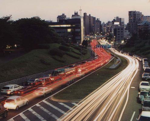 Berufsverkehr in Tokyo