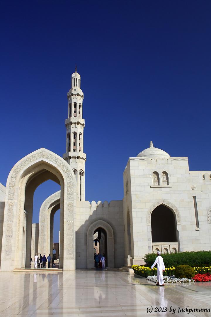 Besichtigung der Sultan-Qaboos-Moschee in Muscat (Sultanat Oman) (10)
