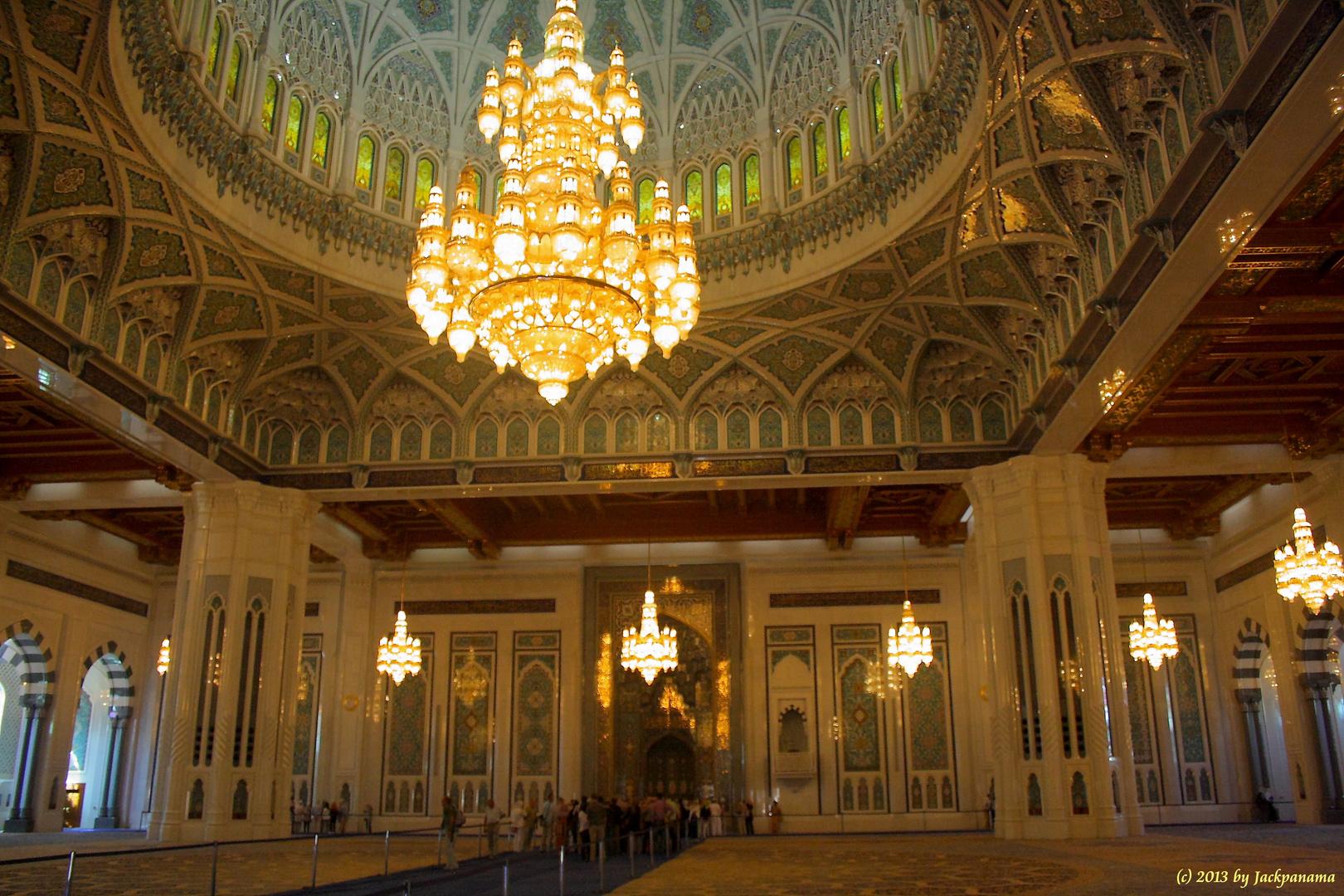 Besichtigung der Sultan-Qaboos-Moschee in Muscat (Sultanat Oman) (4)
